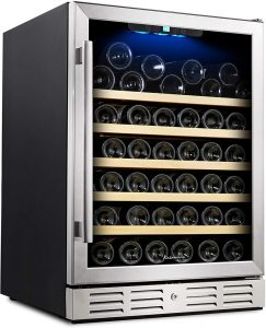 Kalamera 24'' Wine Cooler 54 Bottle Single Zone