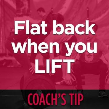 Coach's Tip - Keep A Flat Back