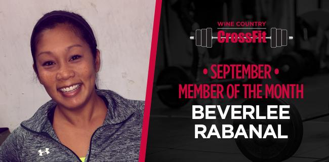September Member Of The Month - Beverlee Rabanal