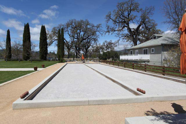 The Bocce Courts at Campovida in Mendocino's Hopland