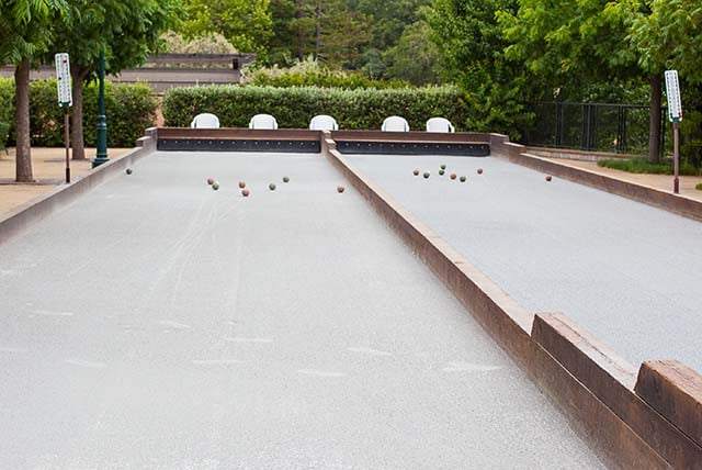 Bocce Courts at Francis Ford Coppola in Sonoma's Geyserville