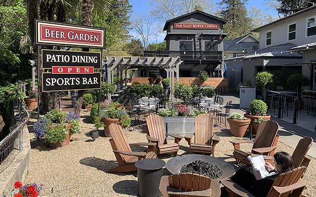Beer Garden at the Calistoga Inn