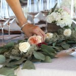 How To Make A Greenery Table Runner With Mini Flower Bouquets