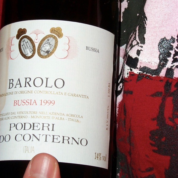 1999 Aldo Conterno Bussia drunk in Turin by Paul Kaan for Wine Decoded