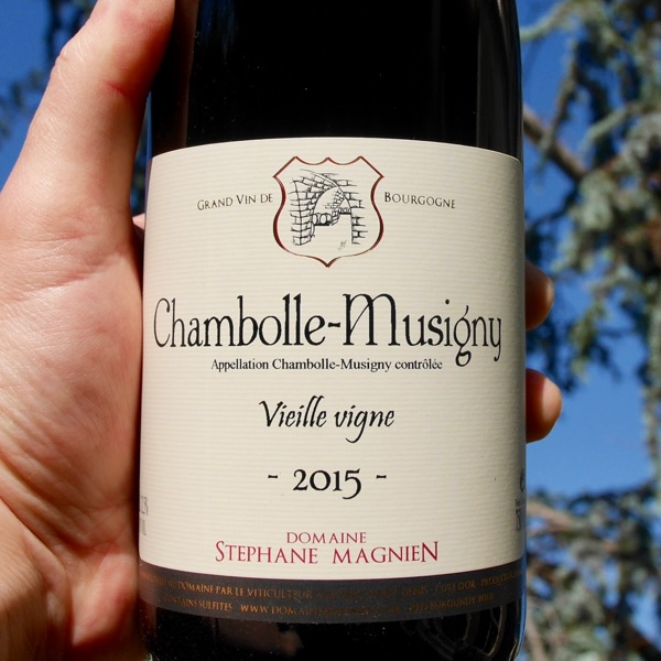 Stephane Magnien Chambolle-Musigny Vielle Vigne 2015 by Paul Kaan for Wine Decoded Centered