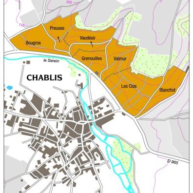 Chablis Grand Cru Map