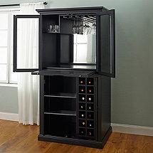 firenze wine and spirits armoire bar nero
