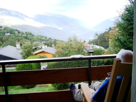 View from Chalet Petite Tara, Bluche, Valais, CH