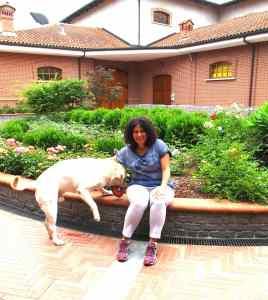 Elisa Scavino and constant companion Lino.