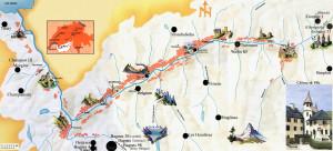 map of Valais 171