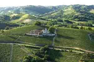 Villa Tiboldi nestled in the vineyards of Malvira outside of Canale, Italy.