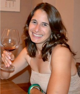 Valerie Quintanella doing what readers should do when taking this armchair harvest trip to Piemonte