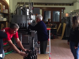 Three generations of Grasso winemakers - Giulio, his father Ernesto and Paola Deltetto Grasso (in the back)