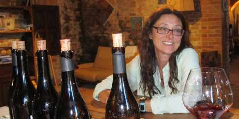 At home in the tasting room of Chiara Boschis, E. Pira e Figli, in Barolo, Italy.