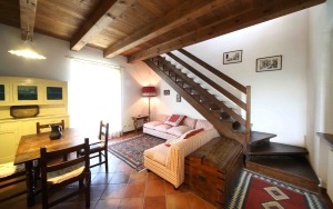 Ground floor of one the two apartments at Cascine delle Rose.