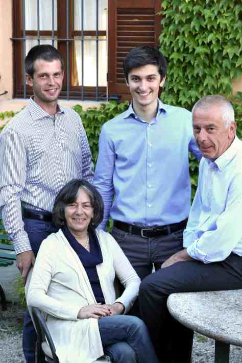 Giovanna her two sons - Riccardo and Davide - and husband Italo.