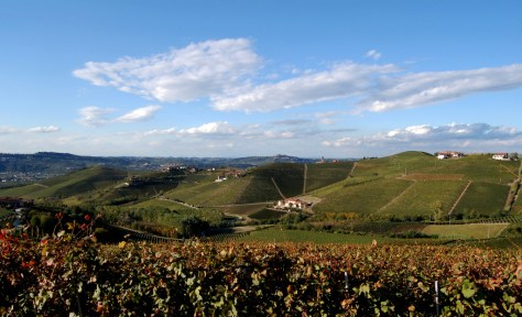 The amphitheater of Martinenga and the Marchesi di Gresy winery in Barbaresco.