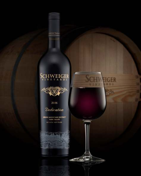 "Schweiger Vineyards' ""Dedication,"" an example of one of Napa Valley's distinctive California Cabernet Blends."