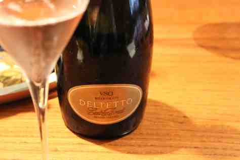Deltetto Extra Brut Spumante Rose Metodo Classico from Nebbiolo and Pinot Nero.