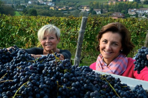 Mariavittoria (left) and Mariacristina, the Oddero sisters of Poderi e Cantine Oddero in La Morra in the Barolo denomination. Photo credit - Elisabetta Vacchetto