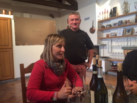 Paola Grasso, mother of Lidia and Anna Deltetto, with her proud papa Giulio looking on. Photo Credit - Karen Haeffner