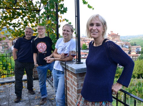 Annalisa Rinaldi with daughters Carlotta and Marta and husband Giuseppe. Photo Credit - Elisabetta Vacchetto