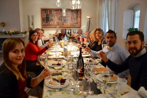 Deltetto and Grasso families celebrating together at the Deltetto home on Christmas Day 2015.