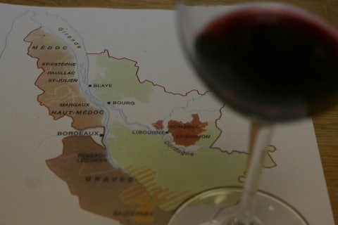 Wine and map