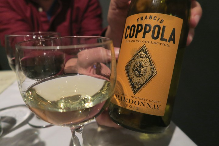 Totally Judging…Drinking Coppola Chardonnay
