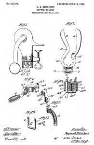 patent by Raymond B. Gilchrist of Newark, New Jersey for a bottle holder on March 3, 1905