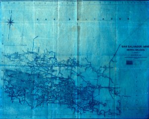 1875 map of Sierra Mojada Mines, Mexico