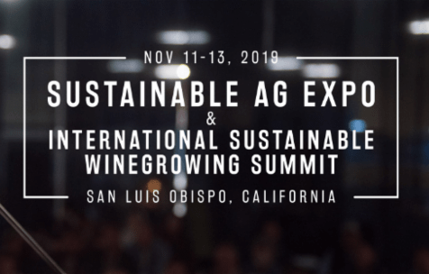 This year's Sustainable Ag Expo hosts the International Sustainable Winegrowing Summit on November 11-13, 2019 at the Madonna Inn Expo Center.
