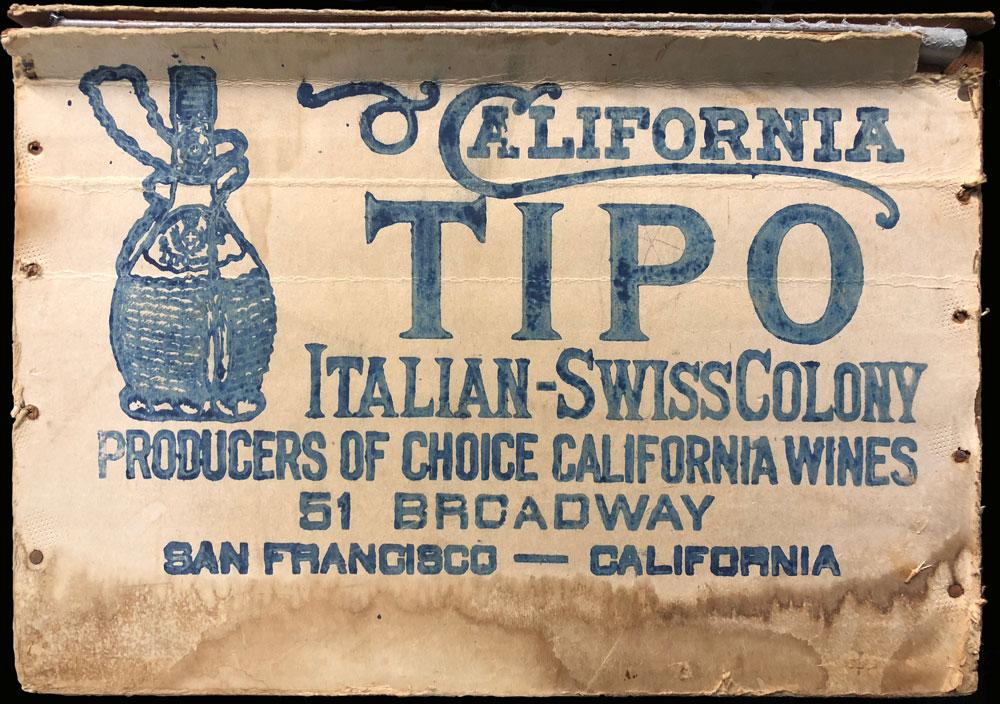 The Italian Swiss Colony Tipo Wood Box
