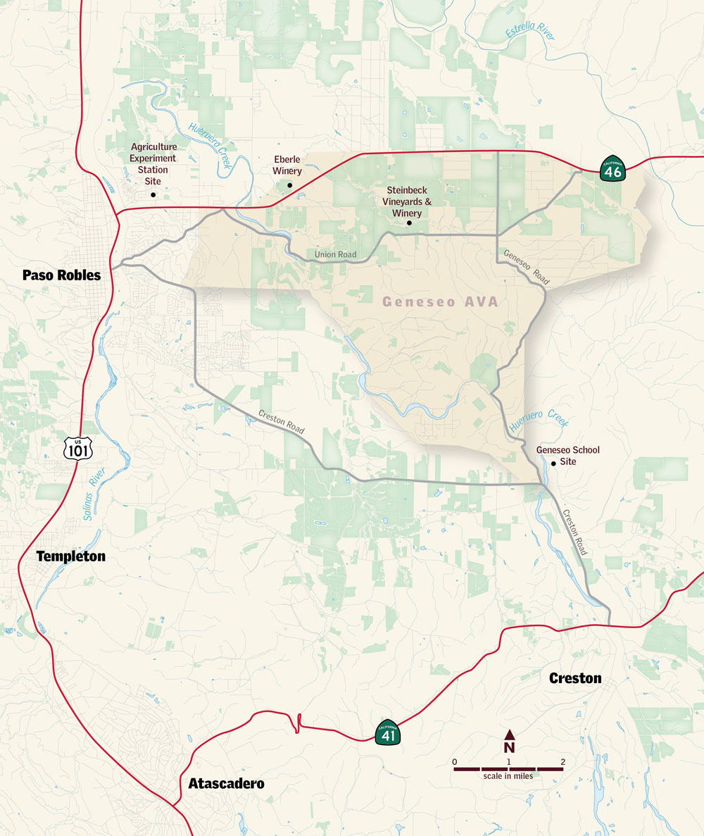Geneseo AVA and Steinbeck Vineyards by Avant Maps