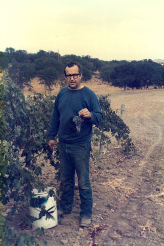 Dave Caparone in the winery using the wine thief