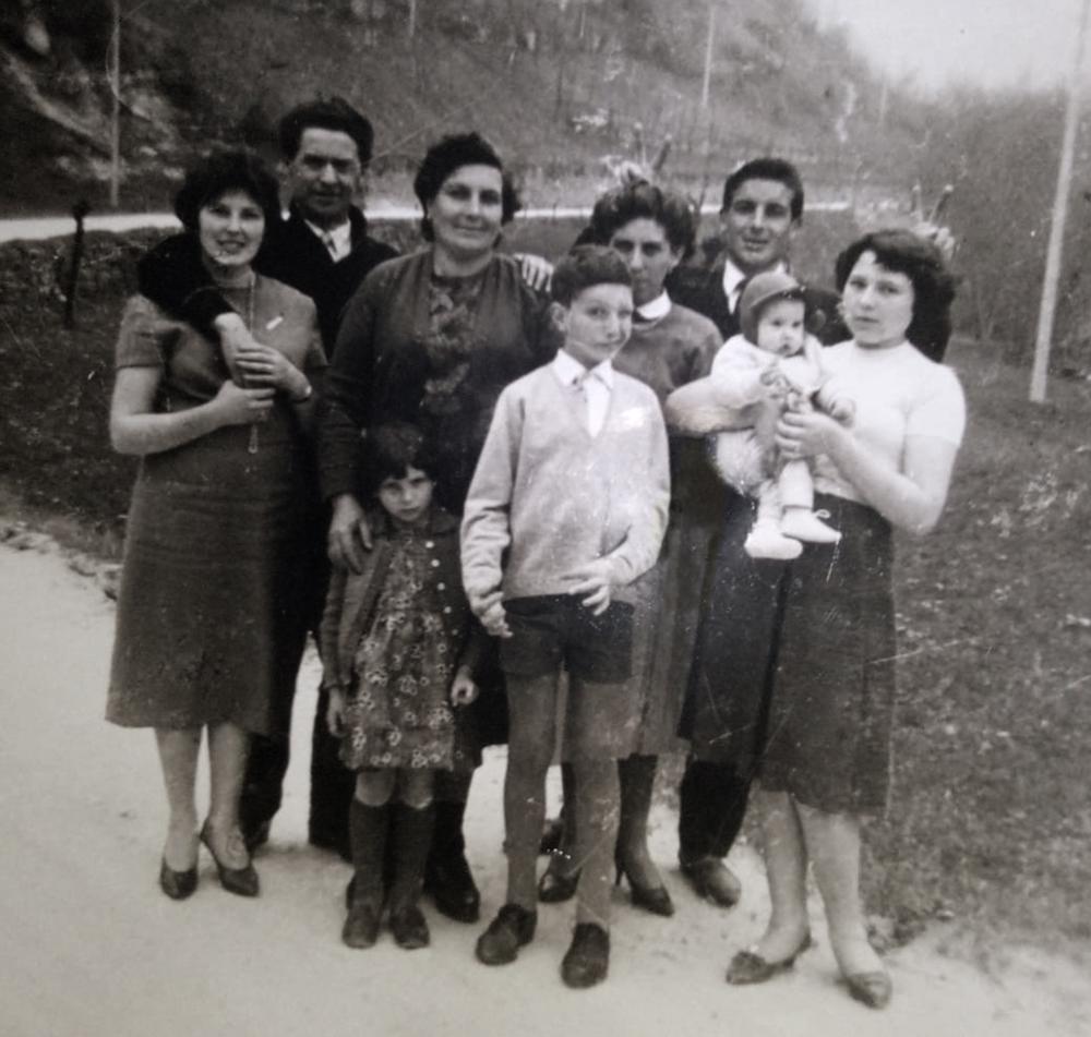 Amorina (Rina) Fossati and her five children, Posina, Italy, 1959.