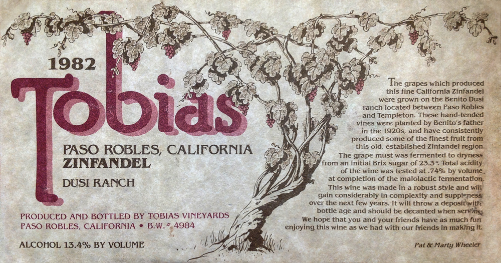Tobias Wine Label