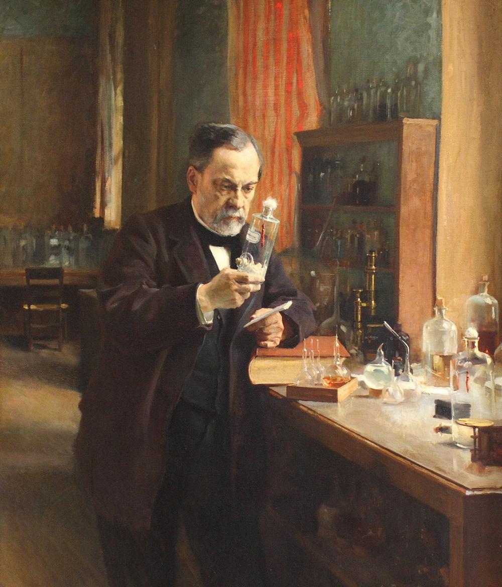 Louis Pasteur, oil painting by Albert Edelfelt,1885.