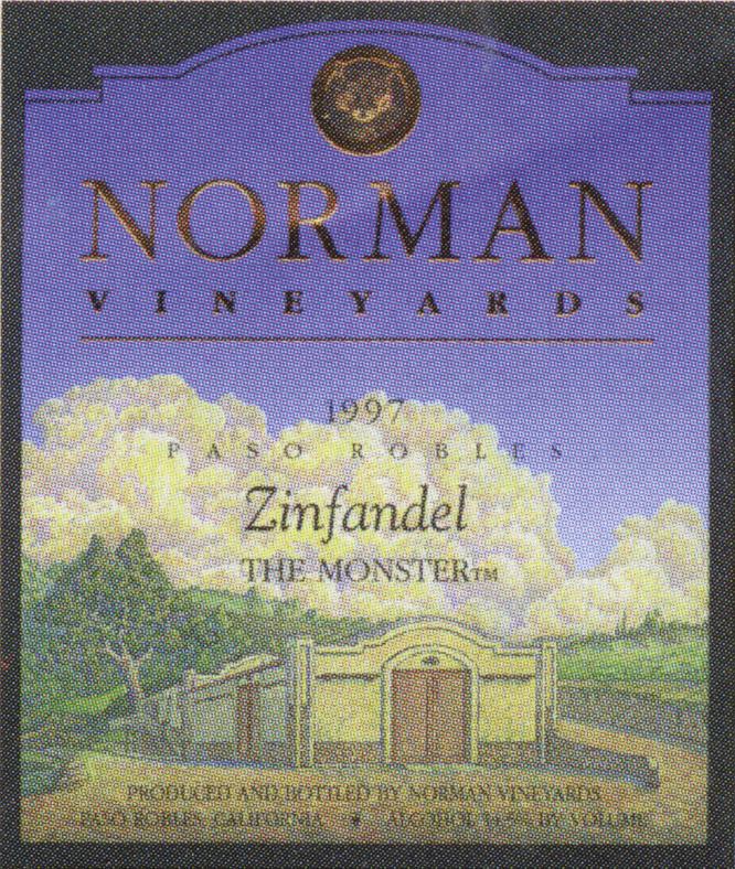 Norman Vineyards Zin 1997 wine label