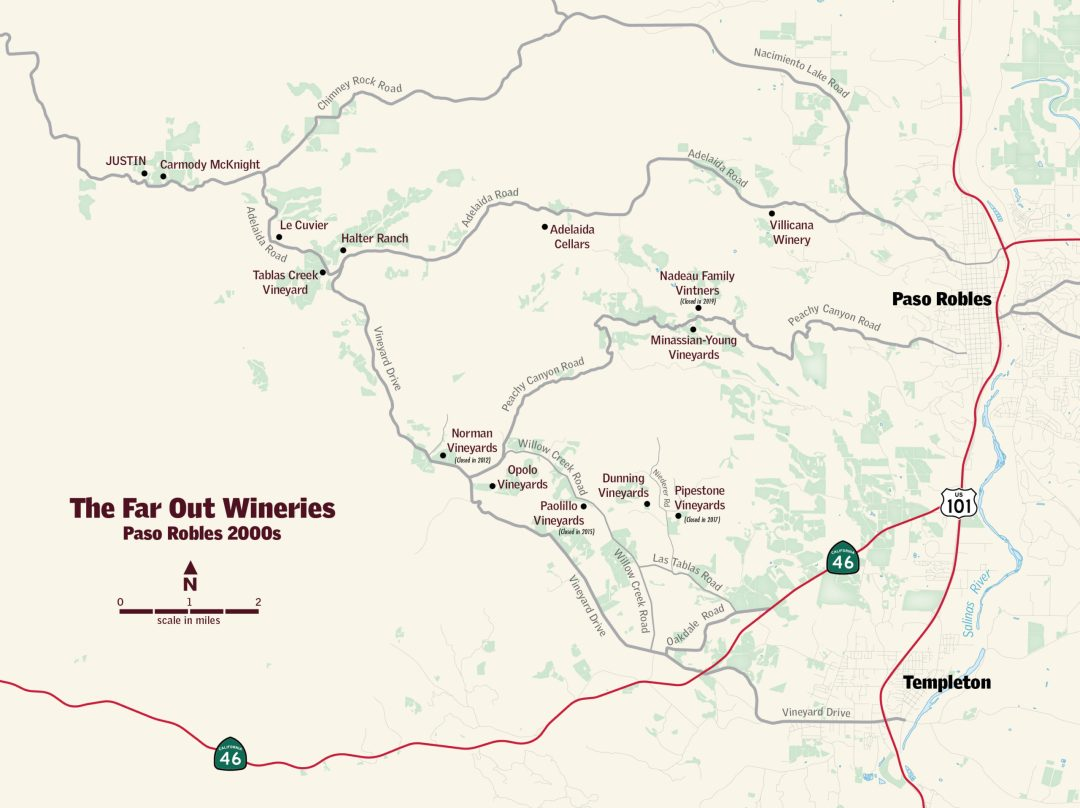 West Paso Winery Map in the 2000s by Aimee Armour-Avant