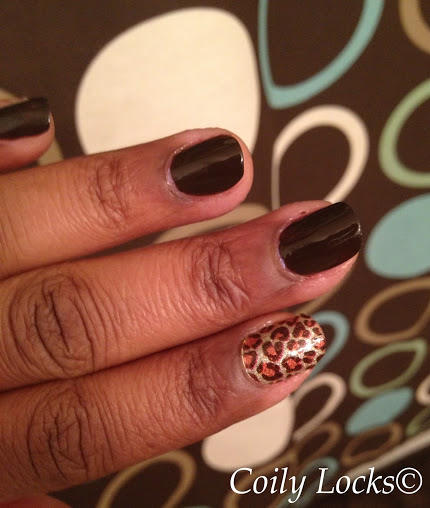 I love how the animal print pops next to the brown!