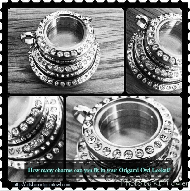 How many charms can you fit in your Origami Owl Locket 1
