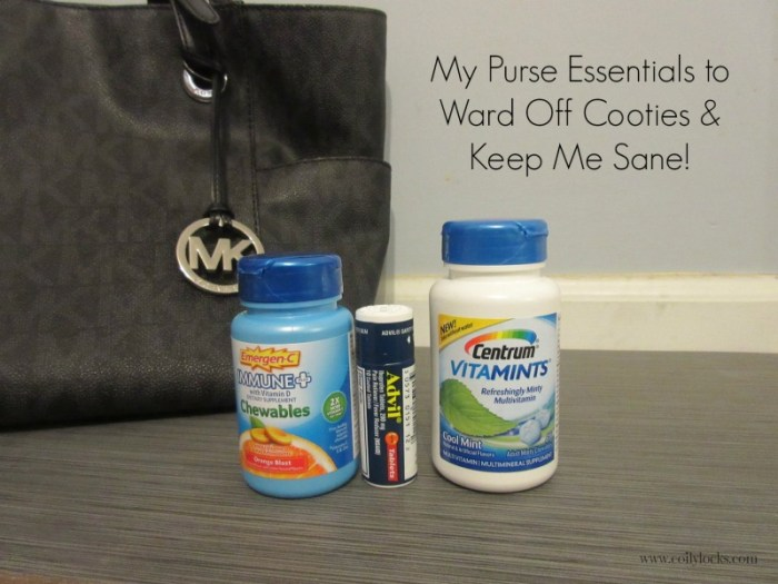Purse Essentials to keep cooties away!