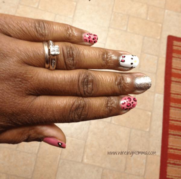 hello kitty nail art wineing momma 2