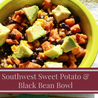 Southwest Sweet Potato and Black Bean Bowls