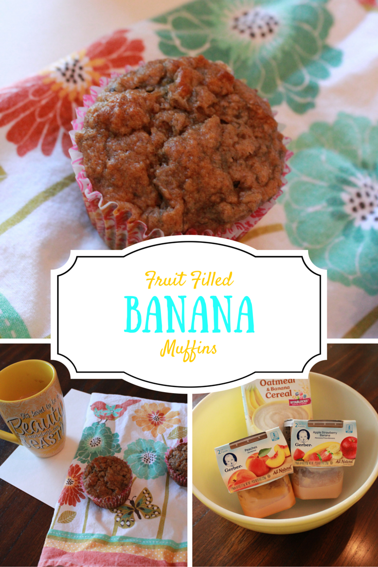 Fruit Filled Banana Muffins