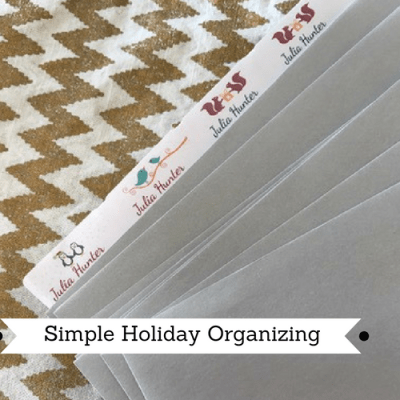 3 Simple Holiday Organizing Tips