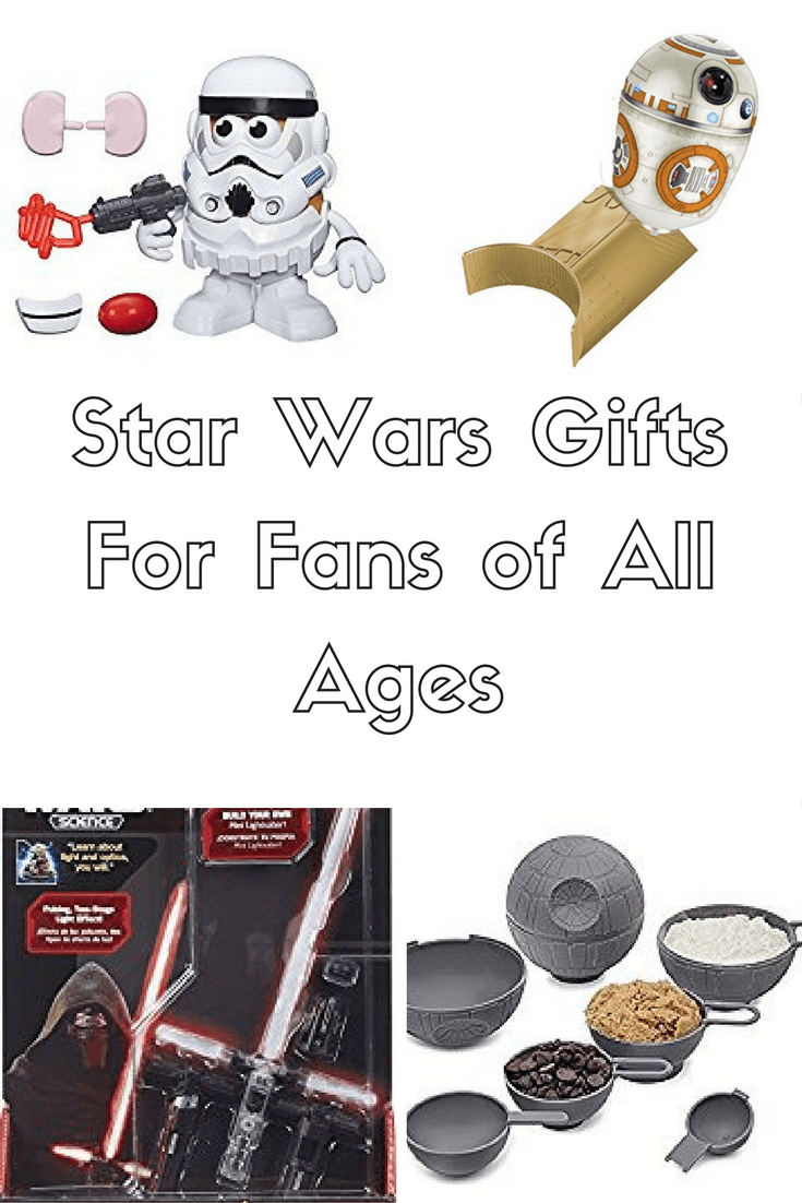 Star Wars gifts for fans of all ages.