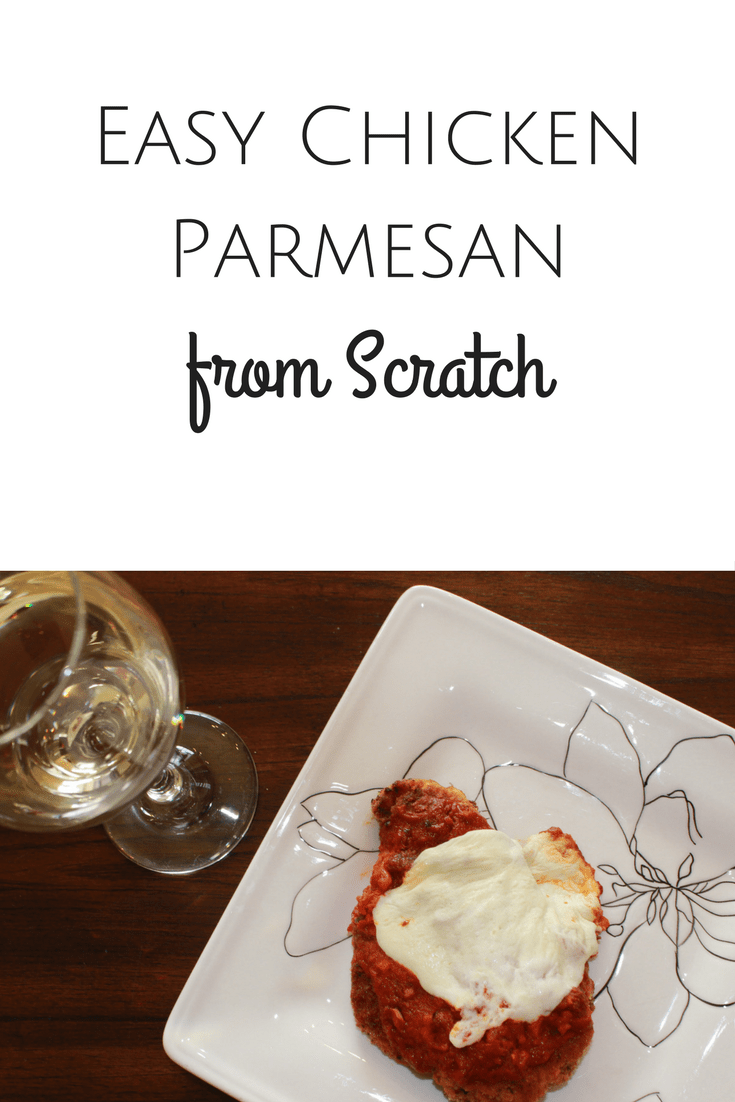 One of my family's favorite comfort foods is this easy chicken parmesan from scratch.