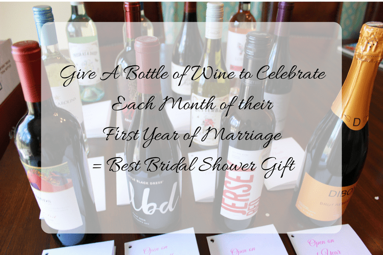 bridal shower wine gift